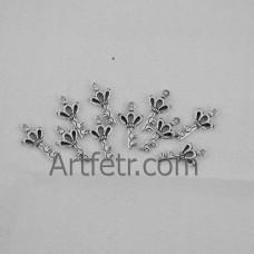 Подвеска ключик 20 мм, цвет серебро, 1 шт