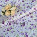 Сиреневые розы на белоснежном фоне. Ткань хлопок.