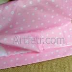 Нежно-розовый хлопок в беленький цветочек