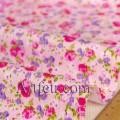Розовая ткань в розочки