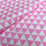 Розовые треугольники ткань хлопок