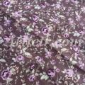 Винтажные сиреневые розы на кофейном фоне, ткань