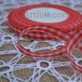 Лента бело-красная клетка 12 мм