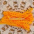 Тесьма вьюнок 5 мм, желтый шафрановый