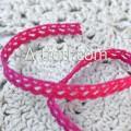 Кружево хлопковое ярко-розовое зубчик 6 мм