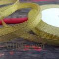 Лента парча 9 мм, золото, 1 м