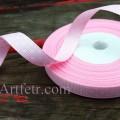 Лента репсовая  в горошек 9 мм Нежно-розовая, 1 м