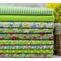 Набор хлопка в светло-зеленом цвете 50*50 см