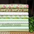 Набор хлопка в светло-зеленом цвете 45*45 см