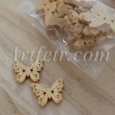 Деревянные пуговицы Бабочки
