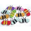 Деревянные пуговицы Пчелки разноцветные
