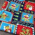 Рождественская ткань с мишками