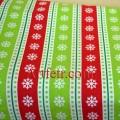 Ткань рождественская с снежинками
