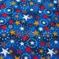 Американская ткань с Золотыми звездочками на синем