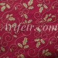 Хлопок бордового цвета с золотым остролистом Joann Fabric
