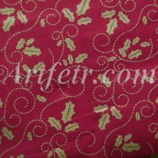 Хлопок золотой остролист на темно-красном Joann Fabric