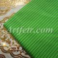 Ткань хлопок салатовая и зеленая полоска