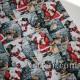 Новогодняя ткань Санта - Клаус Снеговик Рождество