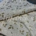 Ткань хлопок Joann Fabric молочного цвета с золотым остролистом