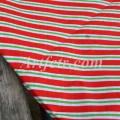 Хлопок широкая красная и зеленая полоска