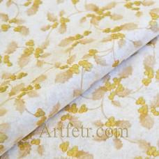 Ткань золотой остролист молочная