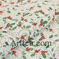 Ткань остролист ягоды падуба на белом