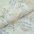 Ткань олени на белом Merry Christmas