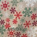 Бежевая ткань ажурные снежинки