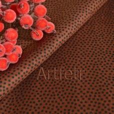 Коричневая ткань в коричневые квадраты, хлопок