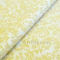Нежная ткань желтые веточки с листьями