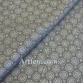 Серебряное солнце на сером, ткань