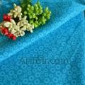 Ткань бирюзовая с цветком