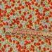 Желтая ткань красные ягоды клубники - ткань для летних вещей