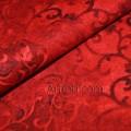 Хлопок красного цвета с узором