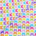 Ткань разноцветные бабочки на белом