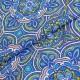 Ткань хлопок синие фракталы