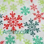 Белая ткань ажурные снежинки