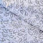 Серебряные листья на белом ткань хлопок