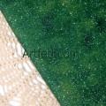 Зеленая блестящая ткань хлопок