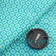 Ткань геометрические цветы лазурно-синего цвета