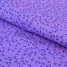 Хлопок фиолетового цвета в мелкий цветочек