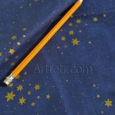 """Купить американскую ткань с Золотыми звездочками на синем """"Звездное небо"""""""