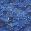Ткань звездное рождественское небо