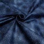 Синяя блестящая ткань хлопок глиттер