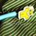 Декоративная хлопковая ткань Joann Fabric Золотая полоска на зеленом