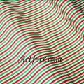 Хлопок зеленая и красная полоска