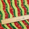 Ткань хлопок с красной, зеленой и салатовой волной
