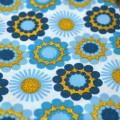 Ткань с круговым цветочным орнаментом, золотой узор