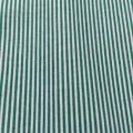 Ткань хлопок в зеленую мелкую полоску